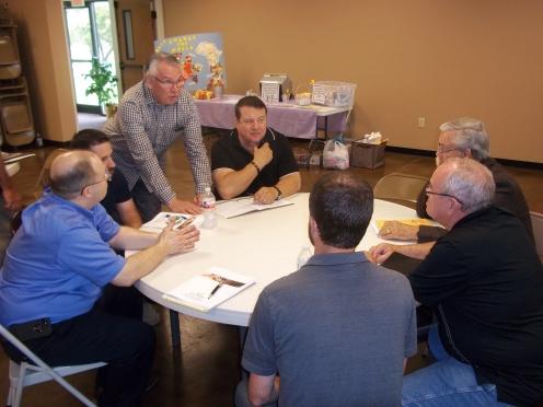 Sam McVay leads the pastors' workshop