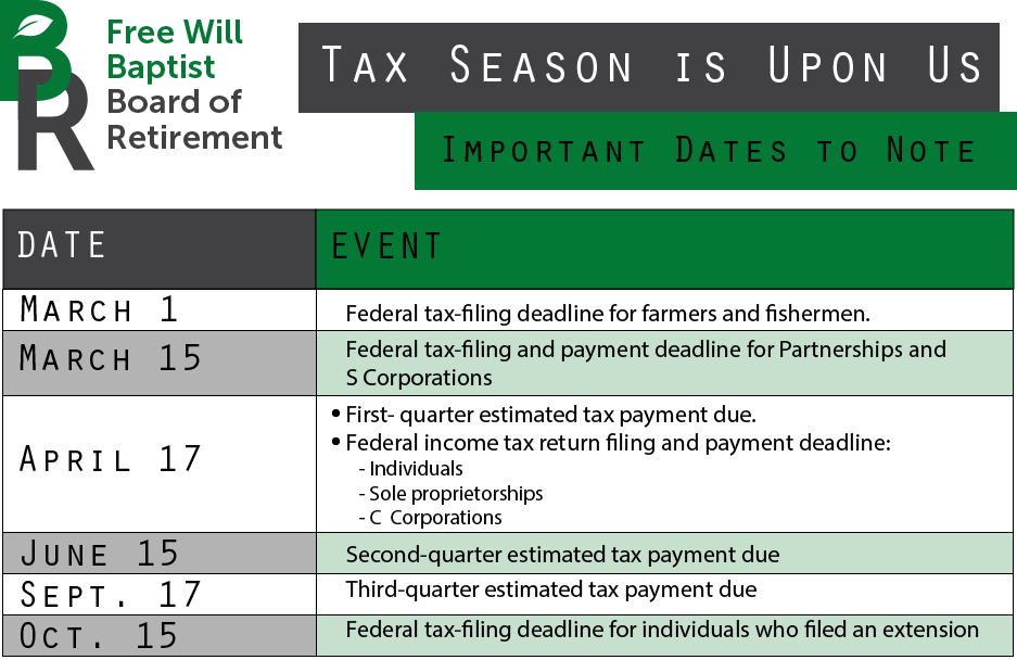 2018 Important Tax Dates (1)