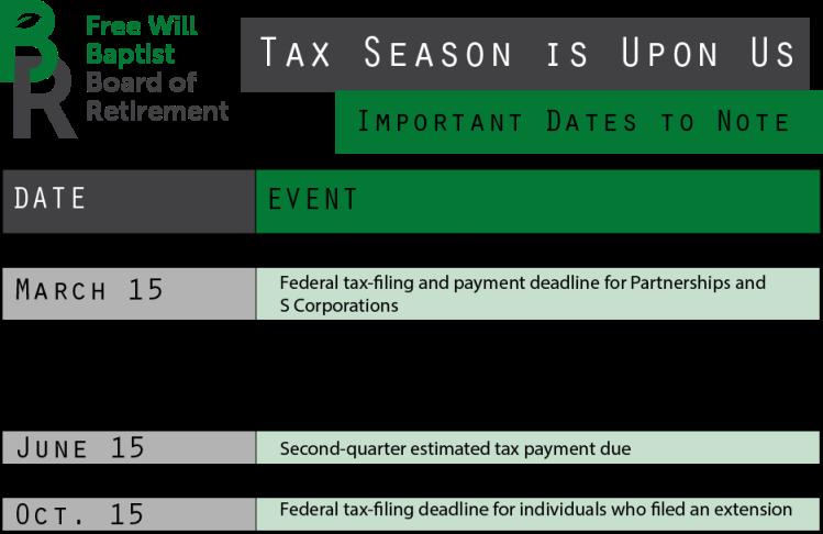 2018 Important Tax Dates (1)